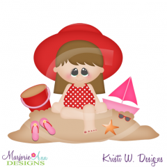 Brooke At The Beach SVG Cutting Files Includes Clipart