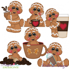 Cookies & Coffee Exclusive SVG Cutting Files + Clipart