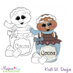 Cookies and Cocoa 1 Digital Stamp + Clipart