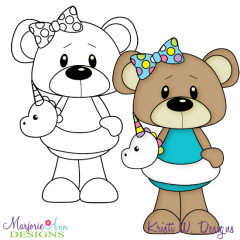 Beach Bear 1 Exclusive Digital Stamp + Clipart