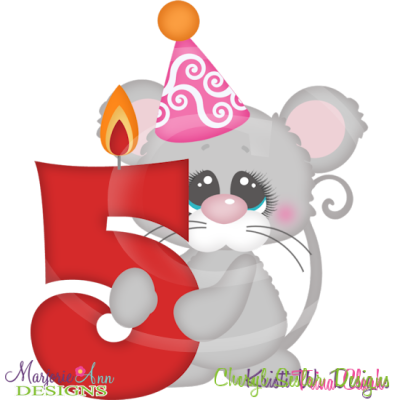 Party Animal 5th Birthday Cutting Files-Includes Clipart