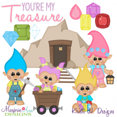 You're My Treasure-Trolls Cutting Files + Clipart