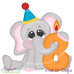 Party Animal 8th Birthday Cutting Files-Includes Clipart