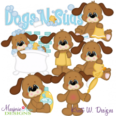 Dogs N Suds SVG Cutting Files Includes Clipart