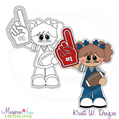 We're Number 1-Girl Digital Stamp + Clipart