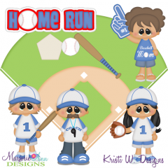Home Run SVG Cutting Files Includes Clipart