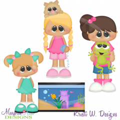 My First Pet-Girls SVG Cutting Files Includes Clipart