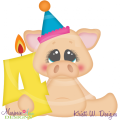 Party Animal 4th Birthday Cutting Files-Includes Clipart