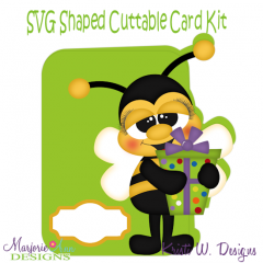 Bee & Birthday Gift~Shaped SVG/MTC Card Kit/Cutting File
