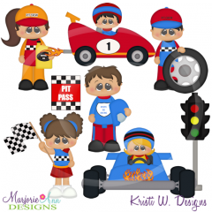 When I Grow Up~Racecar Driver SVG Cutting Files Includes Clipart