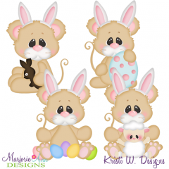 Easter Squeaks Two SVG Cutting Files + Clipart