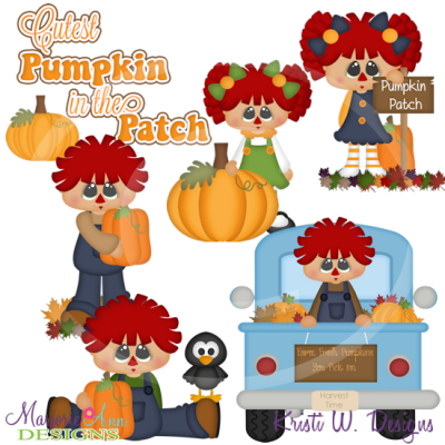Cutest Pumpkin In The Patch SVG Cutting Files Includes Clipart