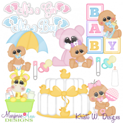 Baby Shower SVG Cutting Files Includes Clipart