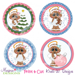 Angel Kisses & Winter Wishes- Print & Cut