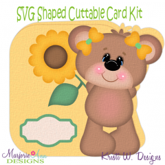 Fall Bear~Shaped SVG/MTC Card Kit/Cutting File