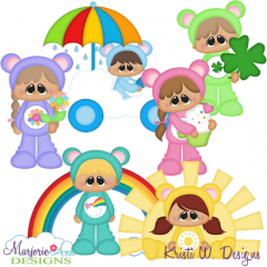 Friendship Kids SVG Cutting Files Includes Clipart