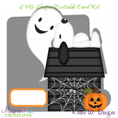 A Snoopy Halloween~Shaped SVG/MTC Card Kit/Cutting File