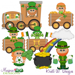 St Patty's Day Train SVG Cutting Files + Clipart