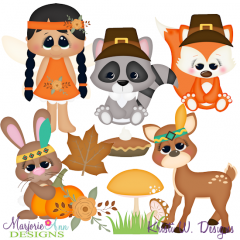 Woodland Thanksgiving SVG Cutting Files + Clipart