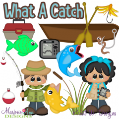 Fishing Trip SVG Cutting Files + Clipart
