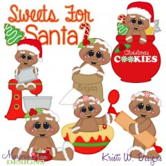 Sweets For Santa SVG Cutting Files + Clipart
