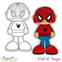 Little Super Hero 7 Digital Stamp + Clipart