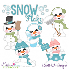 Snow Flaky SVG Cutting Files + Clipart