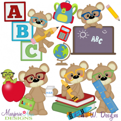 Payton Goes To School SVG Cutting Files Includes Clipart