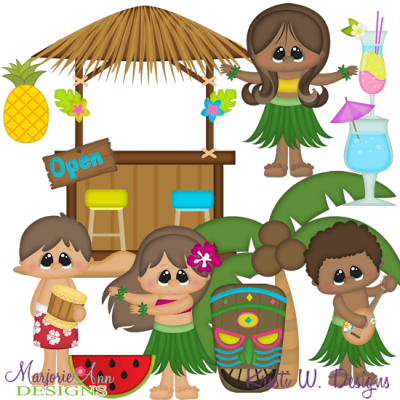 Luau Party SVG Cutting Files + Clipart