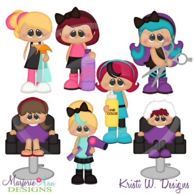 When I Grow Up~Beautician SVG Cutting Files+Clipart