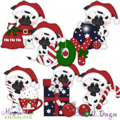 Merry Christmoos SVG Cutting Files Includes Clipart