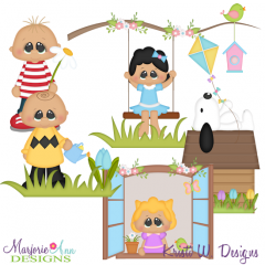 Nutty Bunch Spring SVG Cutting Files Includes Clipart