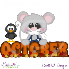 October Title SVG Cutting Files Includes Clipart