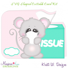 Get Well Wishes~Mouse~Shaped SVG/MTC Card Kit/Cutting File