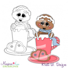 Cookies and Cocoa 2 Digital Stamp + Clipart