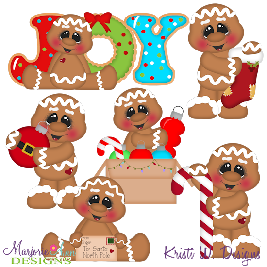 12 Gingers Of Christmas-Set 1 SVG Cutting Files Includes Clipart - Click Image to Close