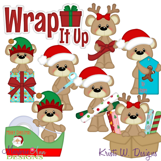 Payton Wrapping It Up SVG Cutting Files + Clipart - Click Image to Close