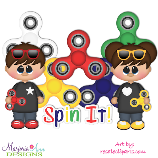 Spin It SVG Cutting Files Includes Clipart - Click Image to Close