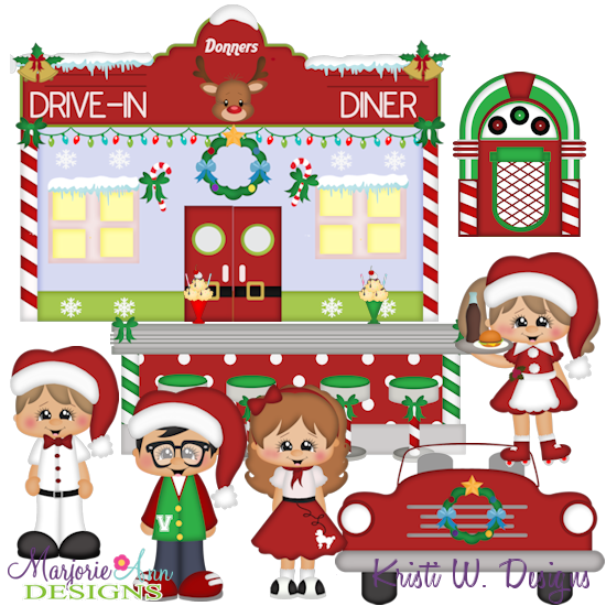 Winter Wonderland Diner SVG Cutting Files Includes Clipart - Click Image to Close