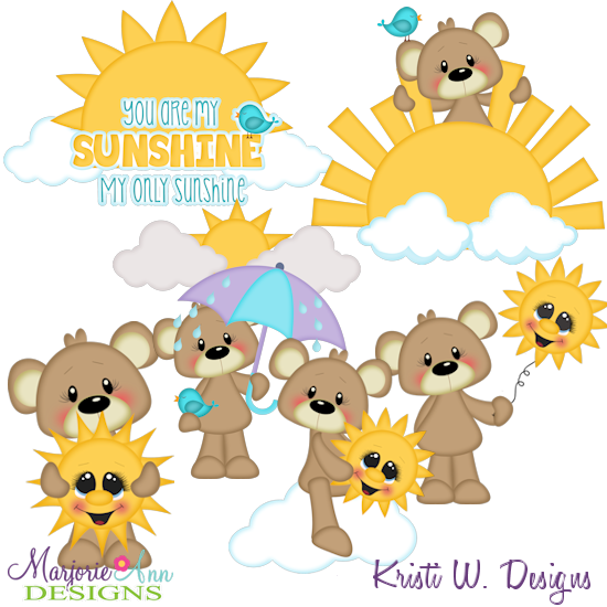 You Are My Sunshine Exclusive SVG Cutting Files + Clipart - Click Image to Close