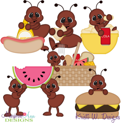 Summer Picnic Ants SVG Cutting Files Includes Clipart - $3 ...